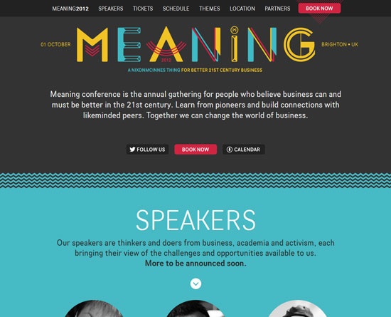 meaningconference.co.uk Site Design