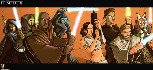 Attack of the Jedi - Star Wars Drawings and Illustrations