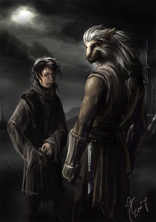 Bwlch and his padawan - Star Wars Drawings and Illustrations