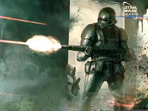 Exogen Class Darktrooper - Star Wars Drawings and Illustrations