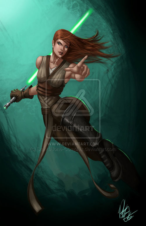 Female Jedi - Star Wars Drawings and Illustrations