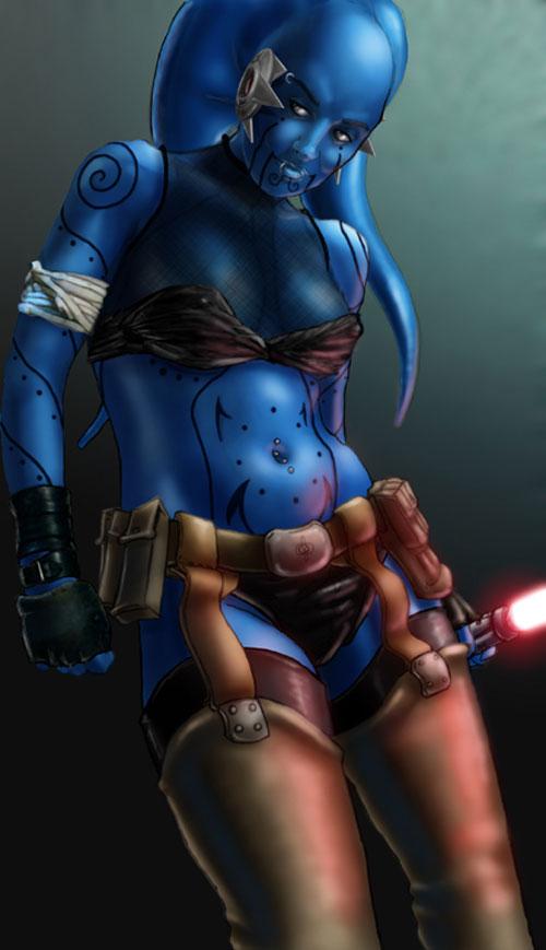 Il'nana as a Jedi - Star Wars Drawings and Illustrations