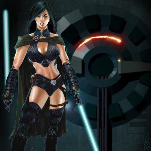 Jedi Tanake Trang - Star Wars Drawings and Illustrations