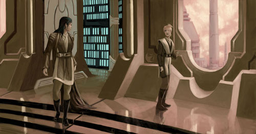 Jedi Temple - Star Wars Drawings and Illustrations
