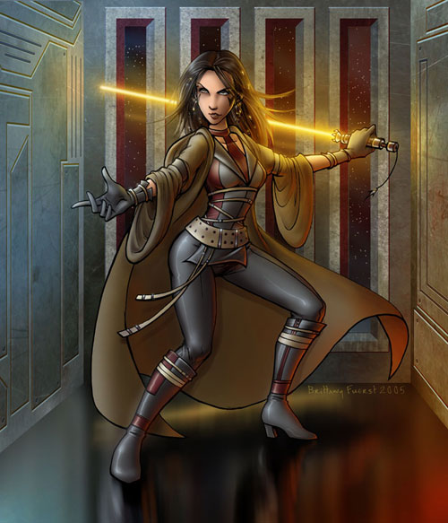 Woman Jedi - Star Wars Drawings and Illustrations