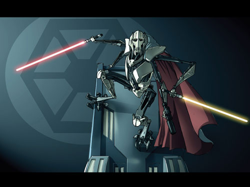 Shums General Grievous - Star Wars Drawings and Illustrations