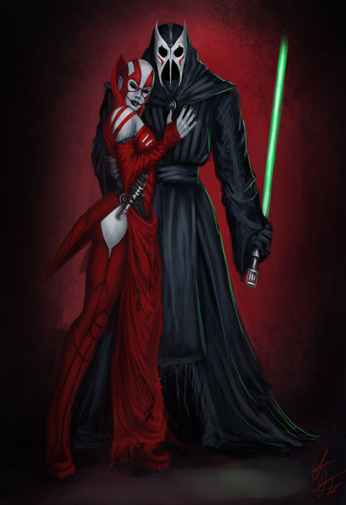 Sith Couple - Star Wars Drawings and Illustrations