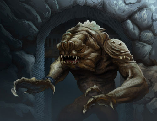 The Rancor - Star Wars Drawings and Illustrations