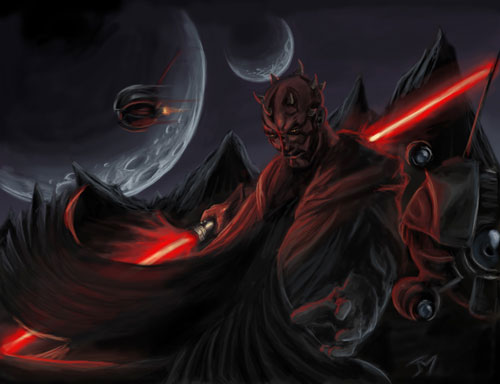 Dark force - Darth Maul - Star Wars Drawings and Illustrations