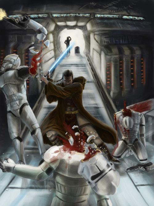 Dark Jedi - Star Wars Drawings and Illustrations
