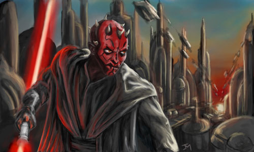 darth maul paint -  Star Wars Drawings and Illustrations
