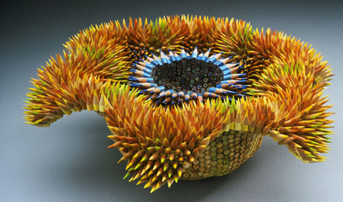 Colored Pencil Sculptures by Jennifer Maestre