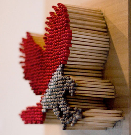 Art from matches by Pei-San Ng 3