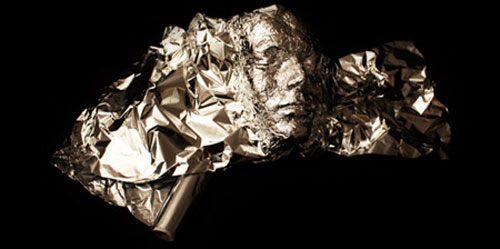 Tin foil art by Dominic Wilcox