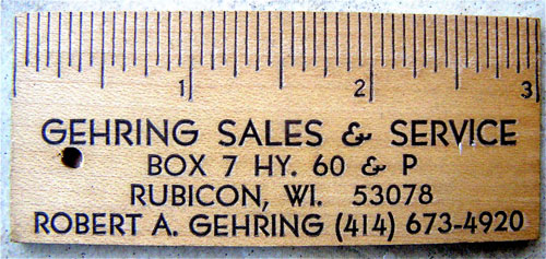 Gehring sales and service Strange Business Card