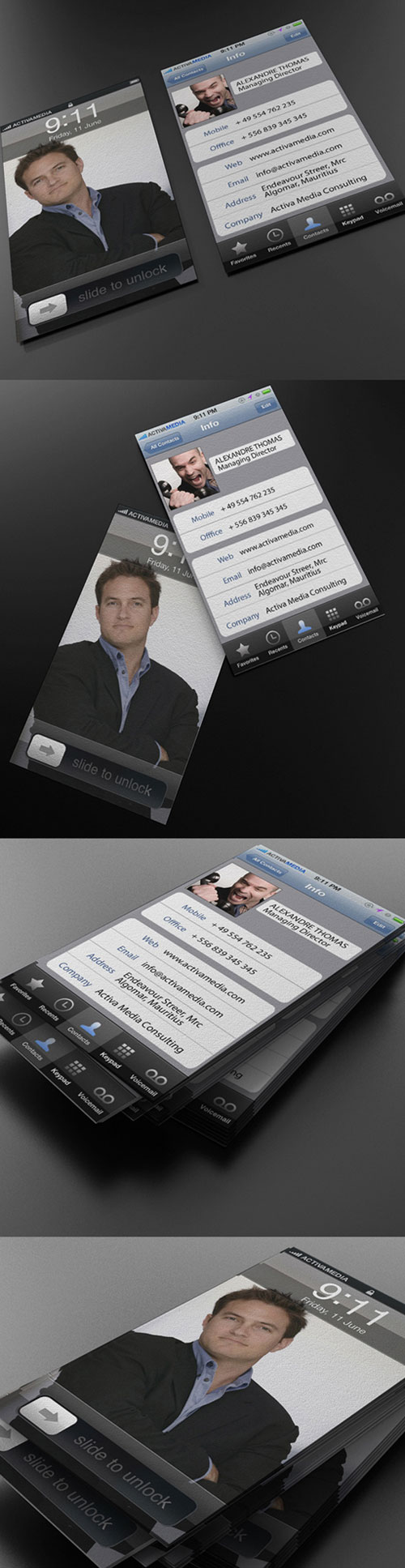 Activa Media Strange Business Card