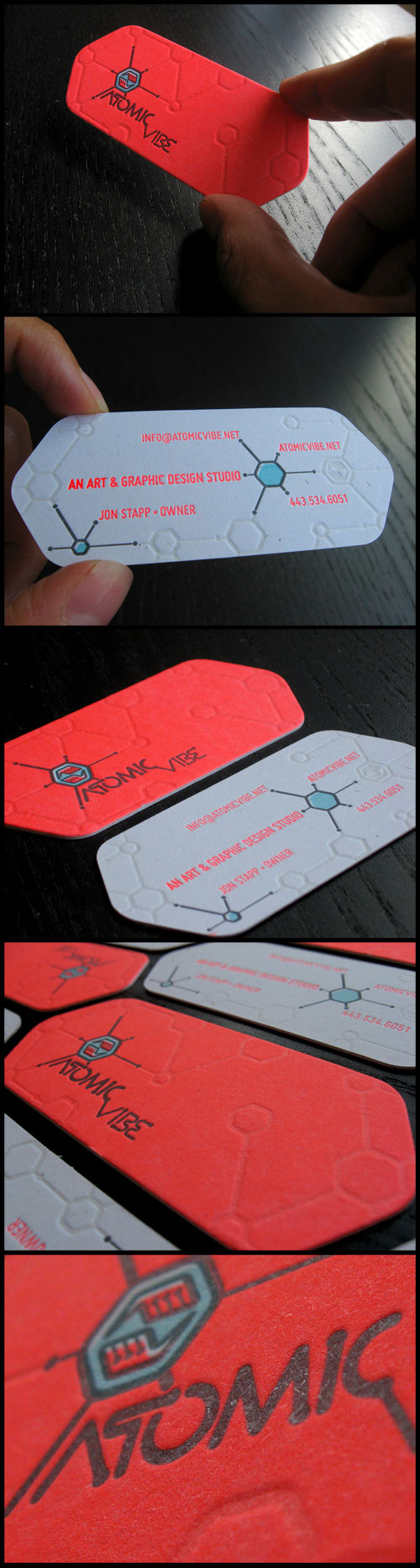 Atomic Vibe Strange Business Card