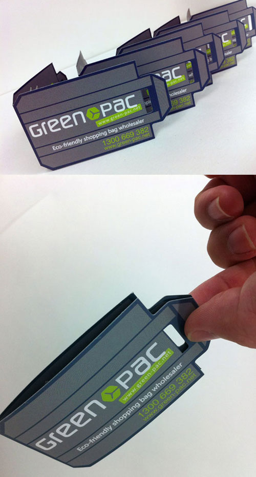 Green Pac Strange Business Card