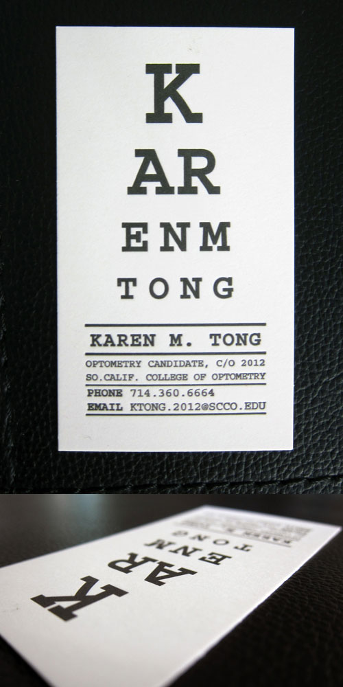 Karen Tong Strange Business Card