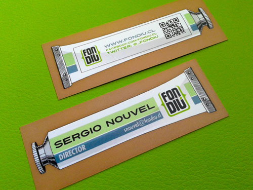 Sergio Nouvel Strange Business Card