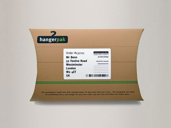 Hangerpak 1 Sustainable Package design