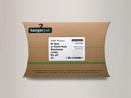 Hangerpak 1 Sustainable Package design