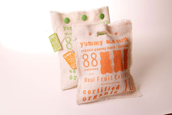 Yummy earth Sustainable Package design