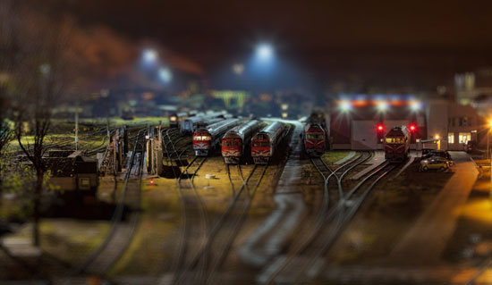 Toy Trains - A Beautiful Miniaturized World Captured By Tilt Shift Photography
