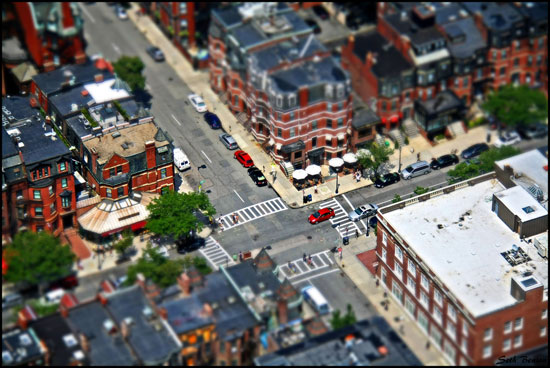 Boston - A Beautiful Miniaturized World Captured By Tilt Shift Photography