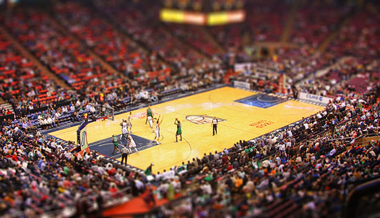 NBA - A Beautiful Miniaturized World Captured By Tilt Shift Photography
