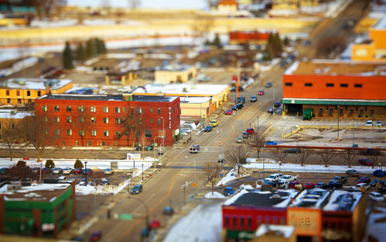 Rochester - A Beautiful Miniaturized World Captured By Tilt Shift Photography