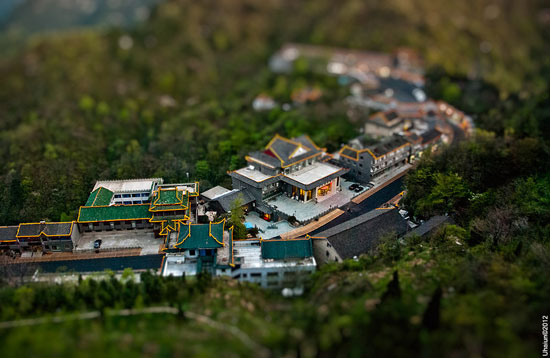 Wudang miniature - A Beautiful Miniaturized World Captured By Tilt Shift Photography
