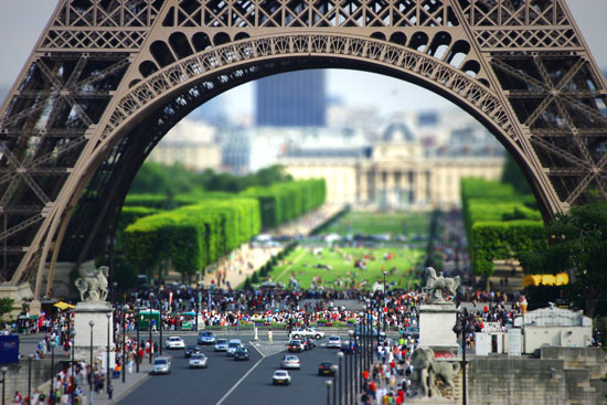 Eiffel Tilt-Shift II - A Beautiful Miniaturized World Captured By Tilt Shift Photography