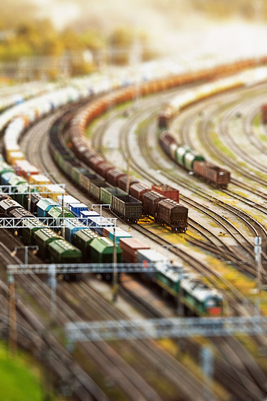 Mini Trains - A Beautiful Miniaturized World Captured By Tilt Shift Photography