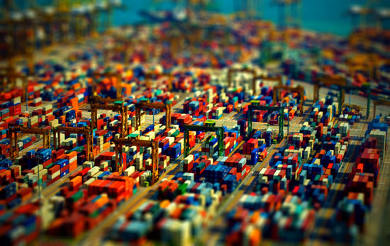 Port of Singapore - A Beautiful Miniaturized World Captured By Tilt Shift Photography