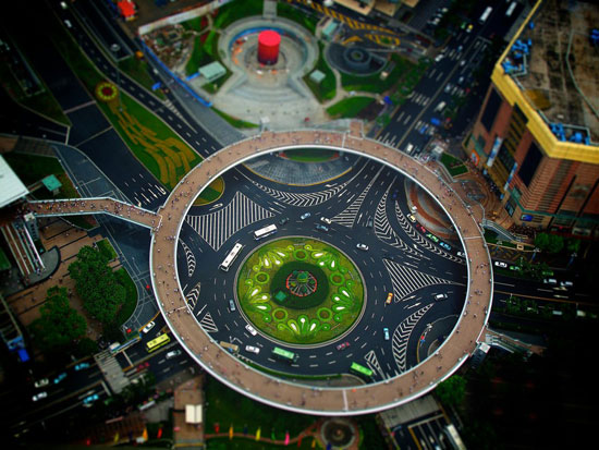Miniature Shanghai - A Beautiful Miniaturized World Captured By Tilt Shift Photography