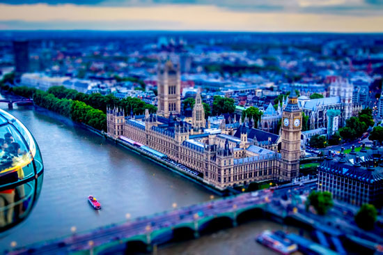 Little London - A Beautiful Miniaturized World Captured By Tilt Shift Photography