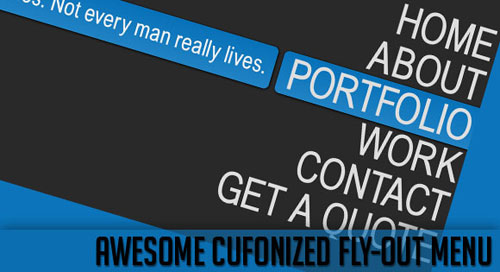 Awesome Cufonized Fly-out Menu with jQuery and CSS3