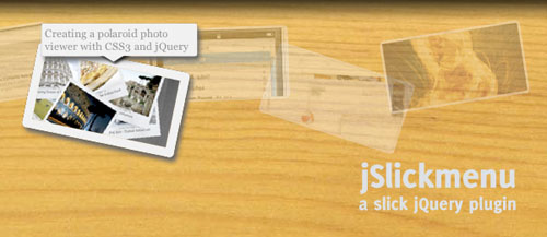 jSlickmenu: A jQuery plugin for slick CSS3 menus