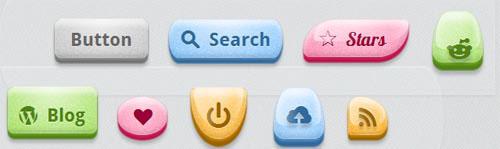 BonBon Sweet CSS3 Buttons