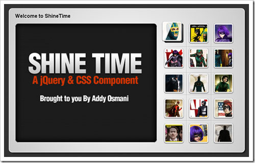 ShineTime – A Kick-Ass New jQuery & CSS3 Gallery With Animated Shine Effects
