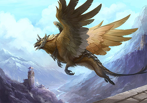 Griffin drawing illustration