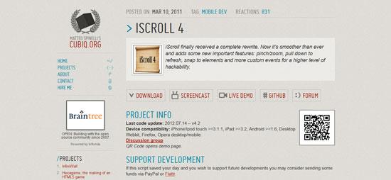 iScroll 4