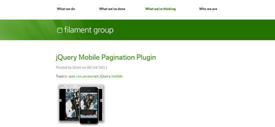 jQuery Mobile Pagination Plugin