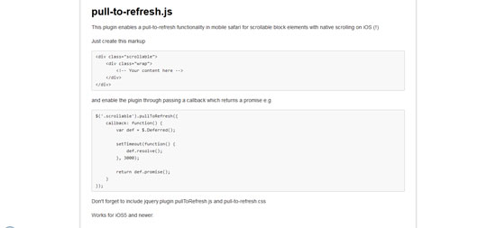 pull-to-refresh.js