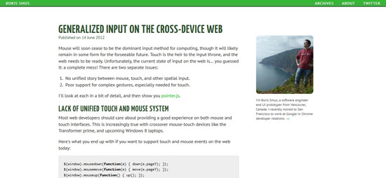 Generalized input on the cross-device web