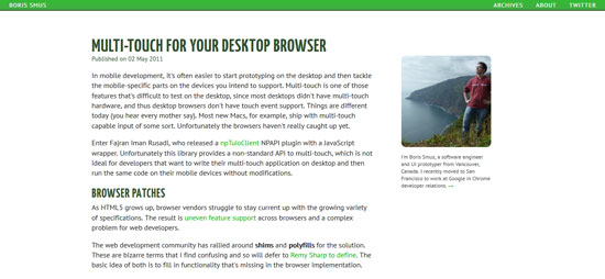 Multi-Touch for your Desktop Browser