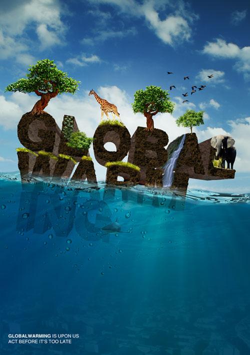 global warming typography