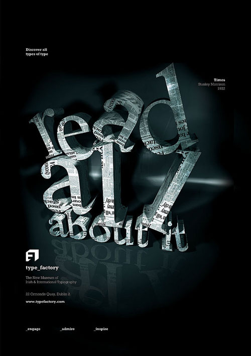 read all about it typography