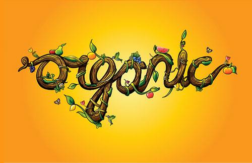 Organic typography